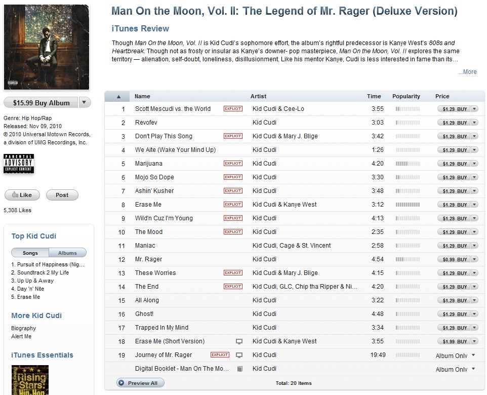 Kid Cudi Man On The Moon End Of Day Sharebeast